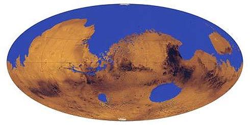 Hipotético oceano em Marte