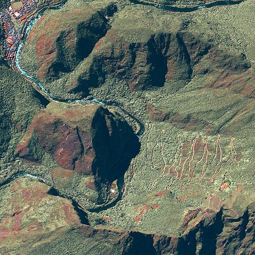 Imagem de Satélite - Ruínas de Machupicchu, Peru